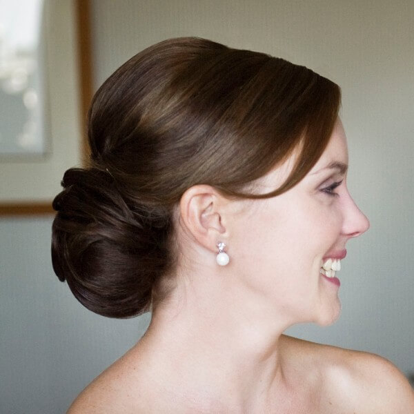 Classic Low Bun High Hairstyle From Curls-Feel Like A Princess