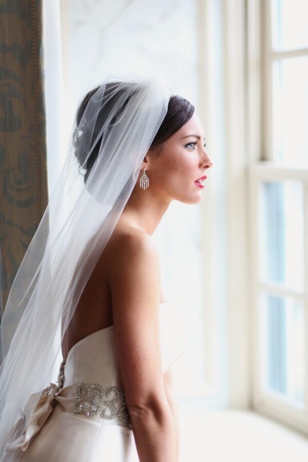 Hairstyle With Veil Trending Bridal Hairstyles For Long & Short Hairs