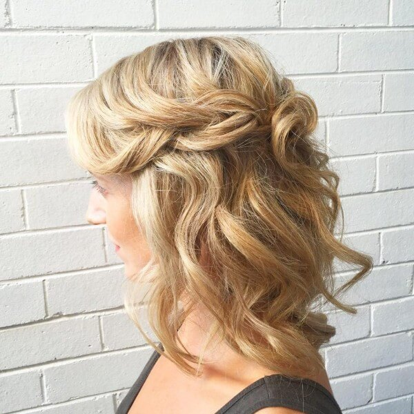Half Up Half Down With Braid Hairstyle -A Lot And Very Different Trending Bridal Hairstyles For Long & Short Hairs