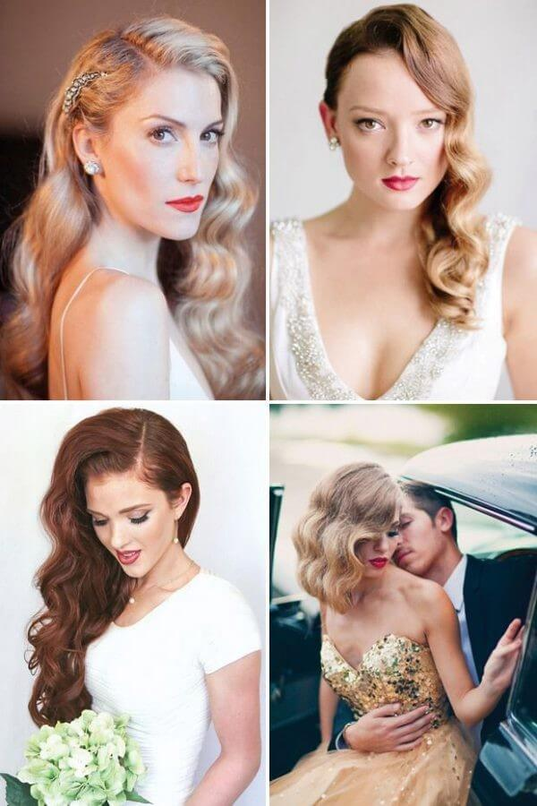 Hollywood Curls - All Time Fashion Trending Bridal Hairstyles For Long & Short Hairs