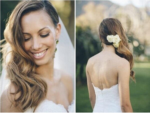 Side Swept Curls Hairstyle Trending Bridal Hairstyles For Long & Short Hairs
