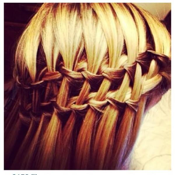 Double Waterfall Braided Hairstyle