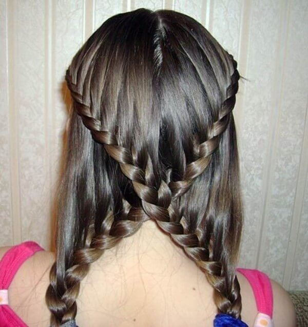 Hairstyles With Braids: Crosswise