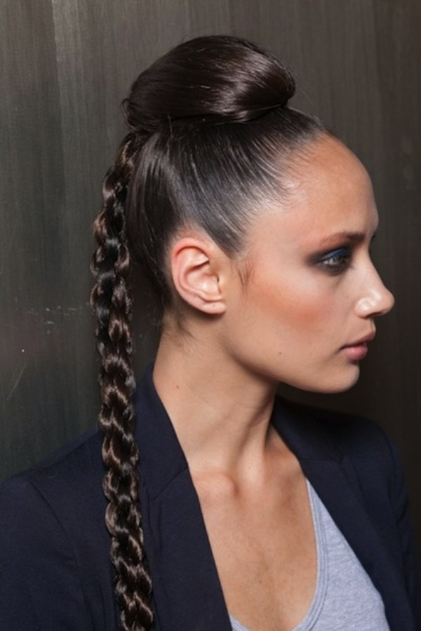 Smooth Hairstyle With Braids