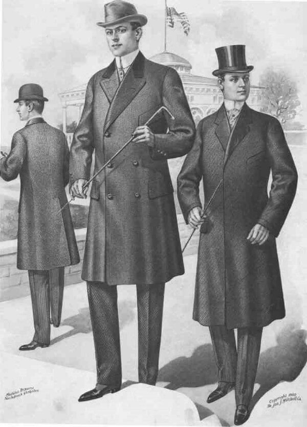 Chesterfield coat designs in 19th century for winter season