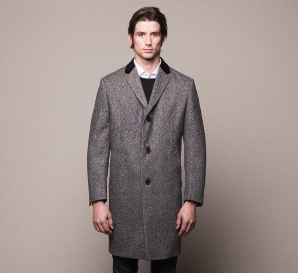 New men slim stylish trench coat for winter season