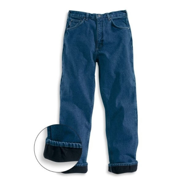 Blue jeans with fleece lining, Relaxed Fit Fleece Lined Pants for winter