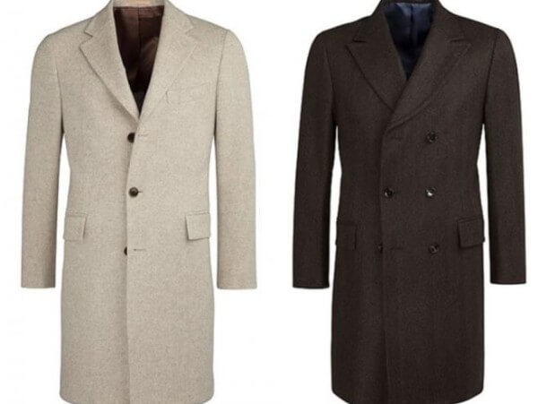 Men's white, grey single & double breasted overcoat for winter season