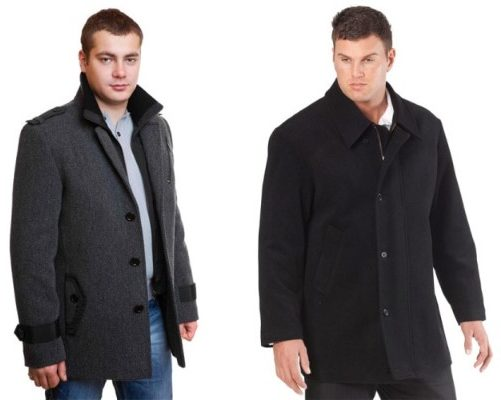 Men's black woolen zip & button up jacket and coat for winter season