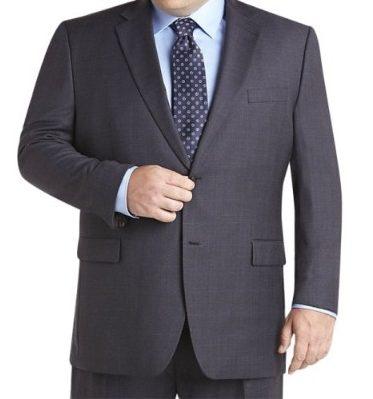 Fat men blue suit set clothing for office use