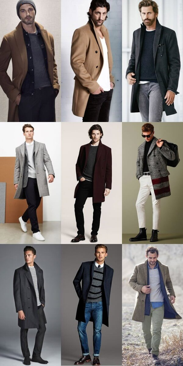 Men's smart casual dress code, overcoat outfit Inspiration Look for winter season