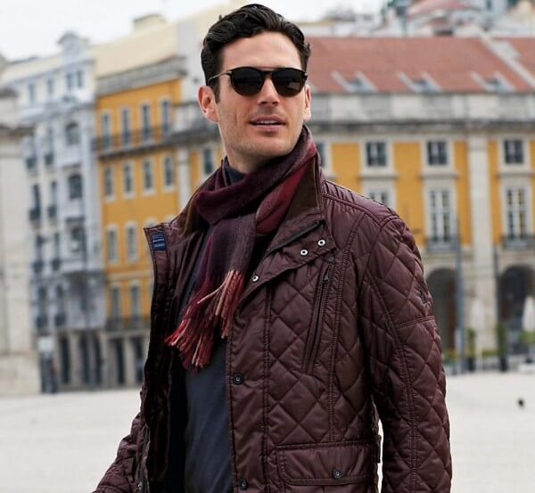 Classic With Suede The Style And Fashion Of Quilted Jacket: Men's Winter Wear