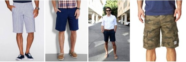 Men's blue, navy blue, cargo bermuda shorts for summer or beach wear