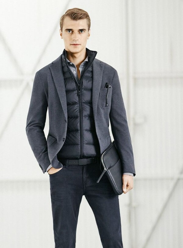Gilet under blazer for office look, quilted gilets & wearing them over blazers