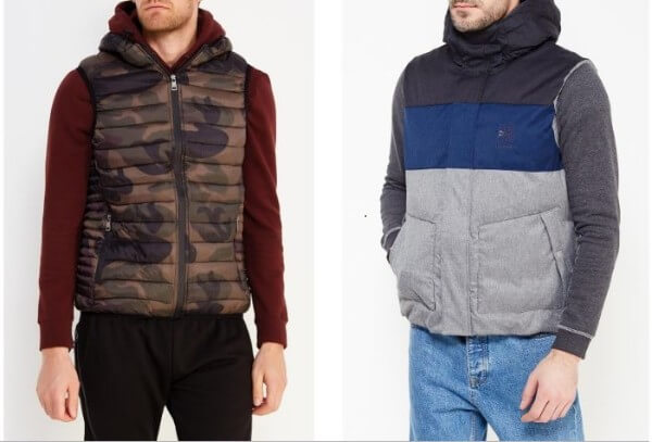 Men's gilet vest with sweater for winter season