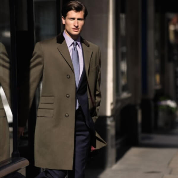 Men's overcoat casual looks, single breasted for winter season