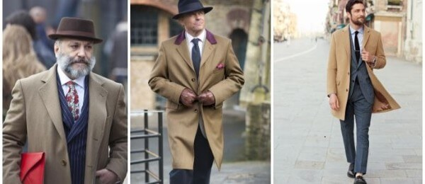 Men's elegantly single breasted chesterfield covert tailored over coat for winter