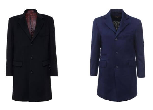 Blue and navy blue overcoats for winter season