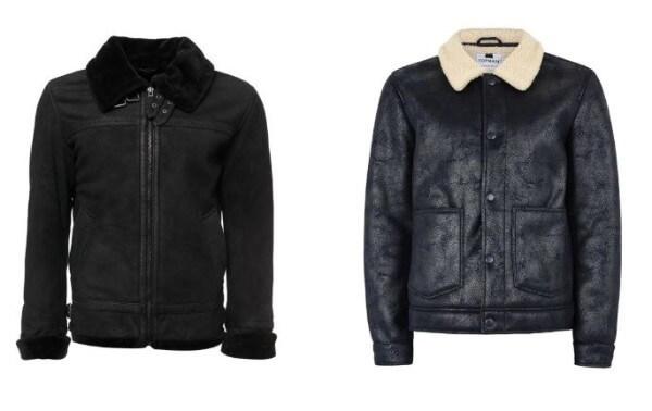 Men's lambskin leather jacket for winter