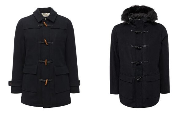 Men's winter fashion down coat, overcoat hooded jacket with furs collar