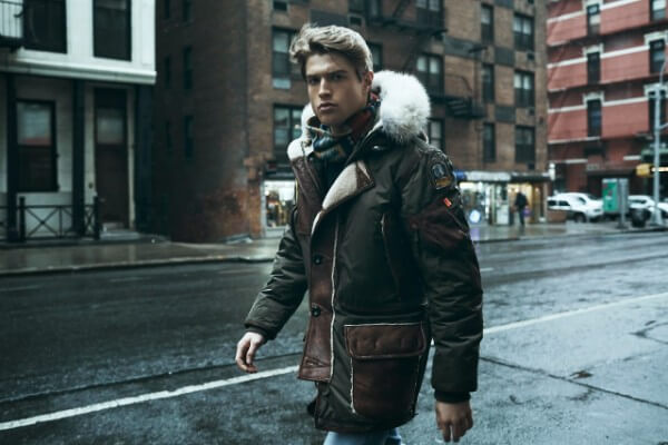 Stylish men winter parka for casual street look