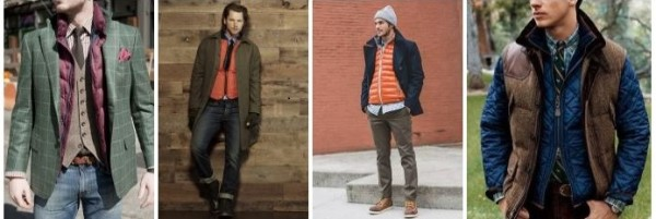 Gilet vest with shirt, tie, checked blazer & half jacket men's outfit for winter season