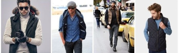 Men's winter wear how to wear a gilet vest with sweater, checked shirts and cardigans