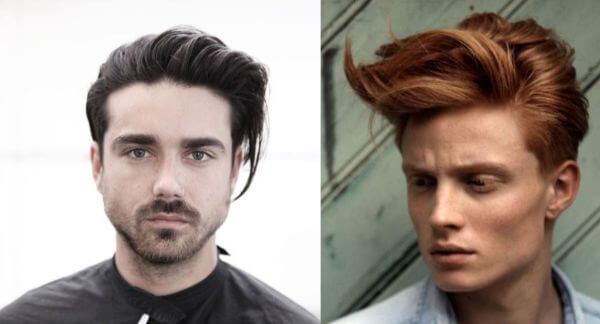 Long thin haired ginger & curly fringe hairstyle for men