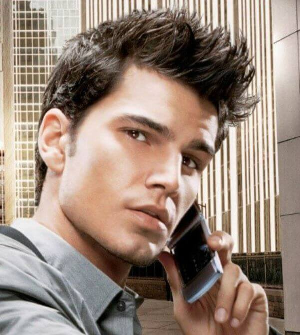 Classic fohawk taper fade hairstyle for men