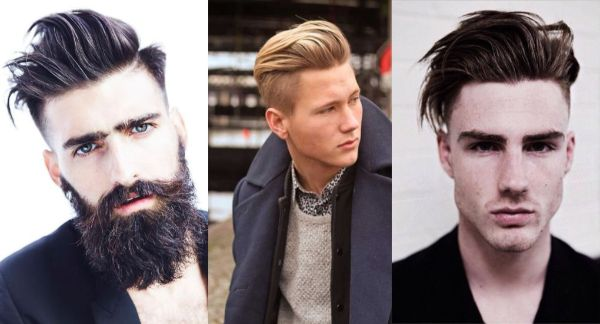 fancy haircuts like medium length hairstyle with taper fade for men