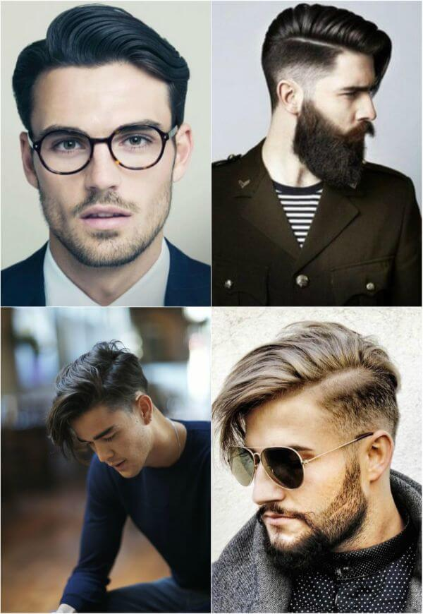 Medium side swept men's hairstyle for office or casual look