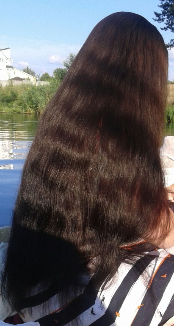 Long, black beautiful hair