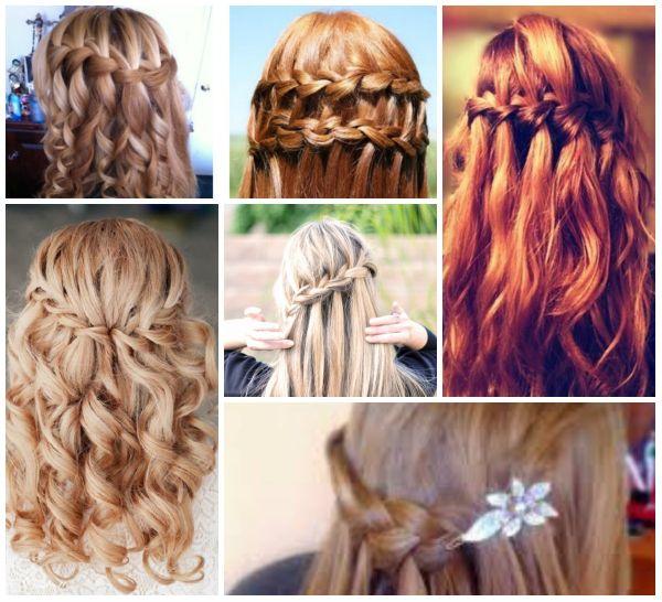 Medium length various hairstyles half up half down ideas