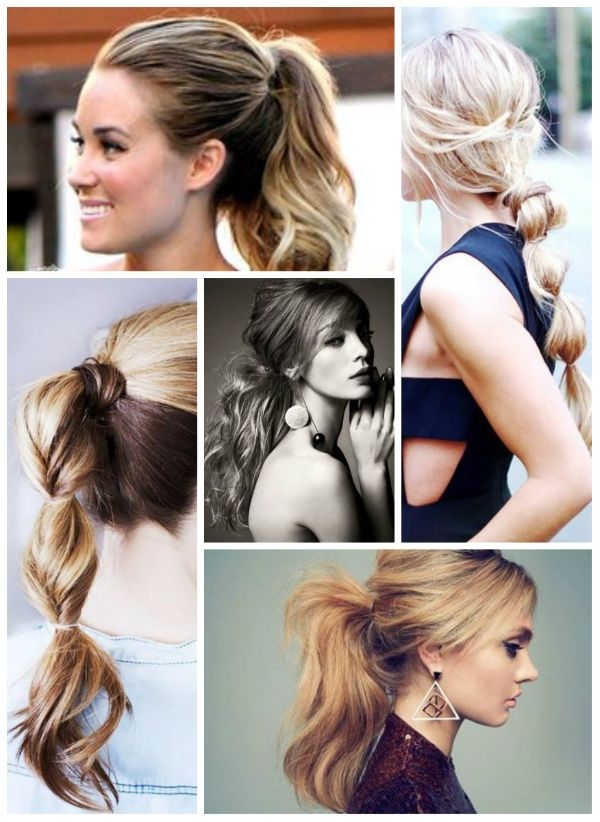 Celebrity like lauren conrad different ponytail or pony braid hairstyles