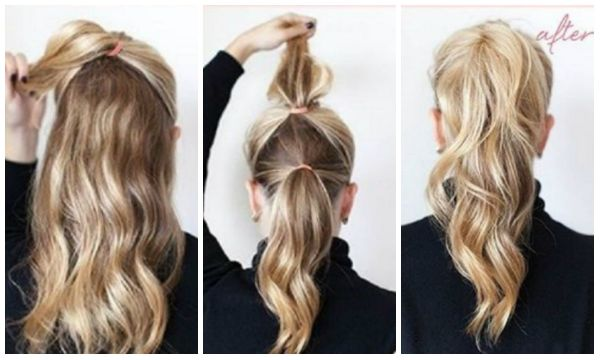 Add volume to your ponytail by doing the double ponytail trick