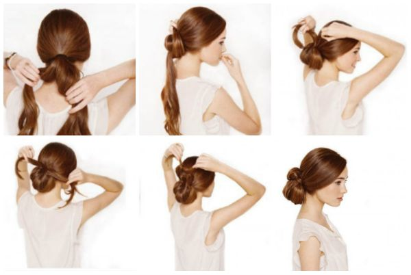 Easy step by step updo hair tutorial for long and medium hair