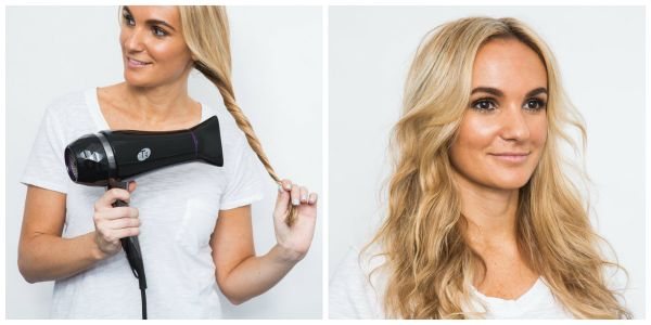 Elegant curly long wavy curls hairstyle which can be done with your blow dryer