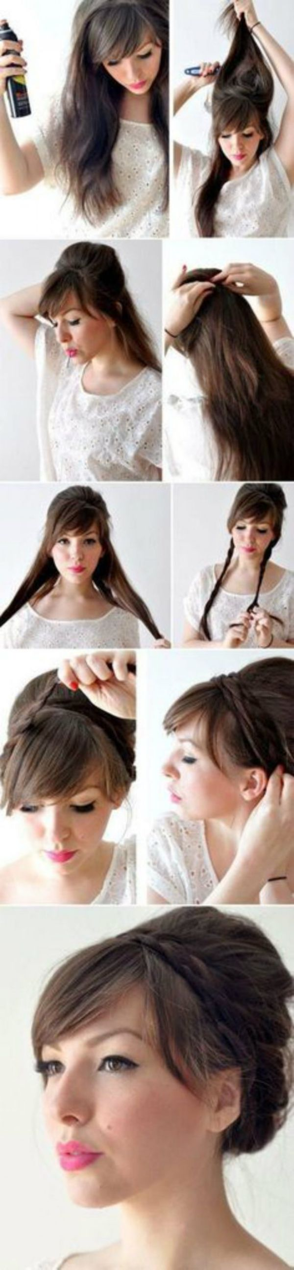 Office Hairstyles: Decorate Strict Braid With Pigtails Simple Hairstyles For A Strict Dress Code