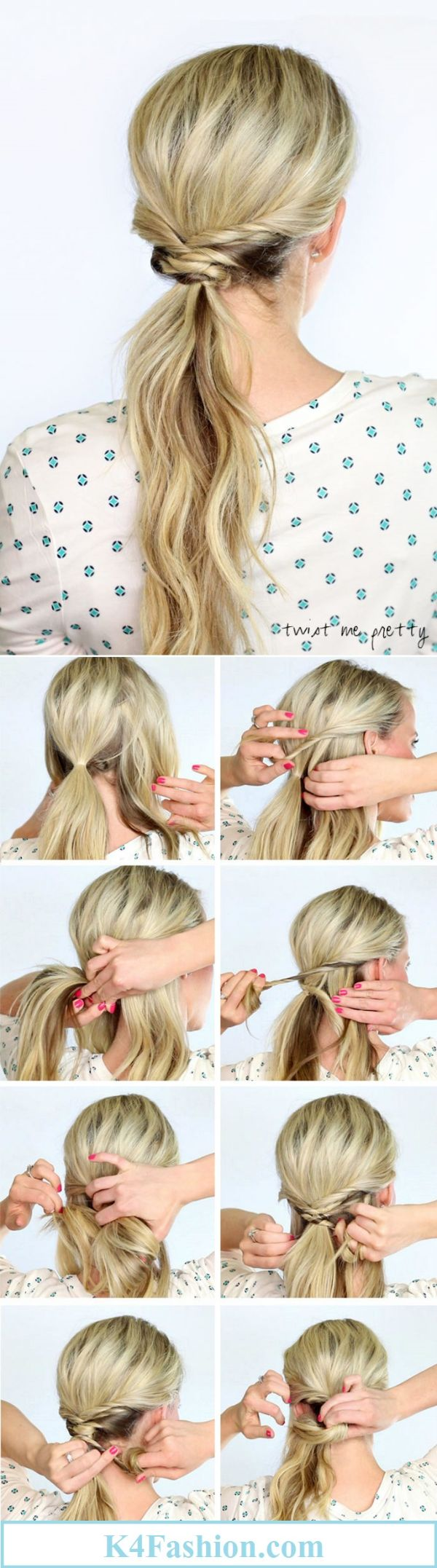 Office Hairstyles: Make A Regular Tail A Work Of Art   Simple Hairstyles For A Strict Dress Code