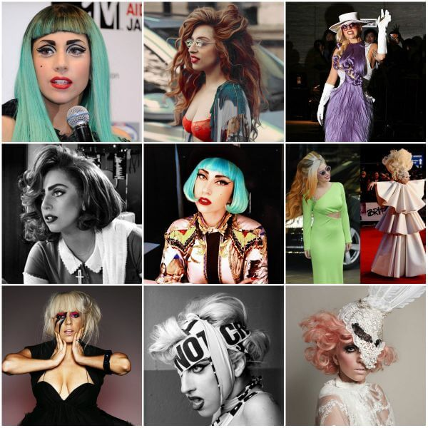Lady Gaga's craziest & different hairdos and hair accessories