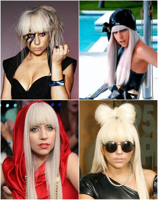 Lady Gaga blonde hair bow and hairstyles