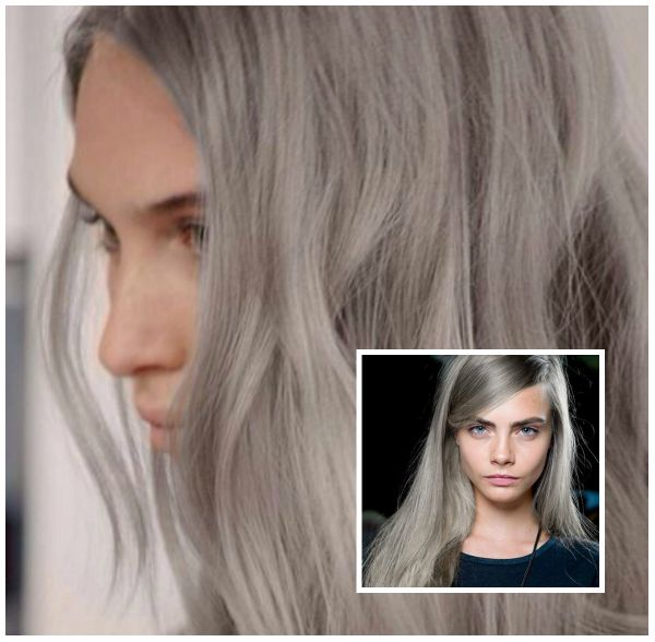 Best Icy blonde or slate grey hair color for long hair