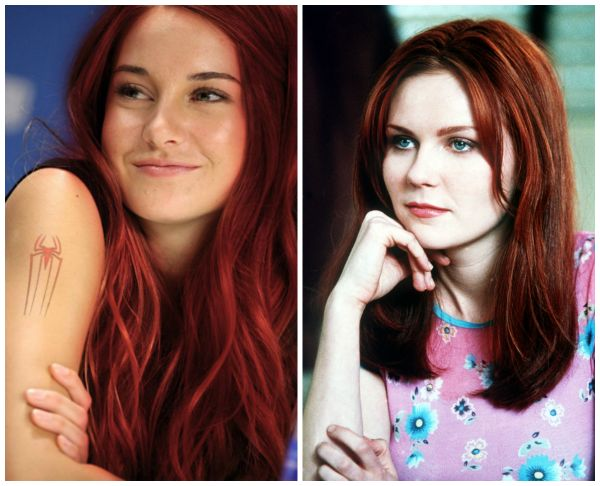 Celebrity Kirsten Dunst or mary jane from spider man red hair look