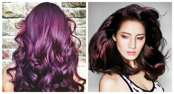 Maroon burgundy & pinot noir grape hair color trends