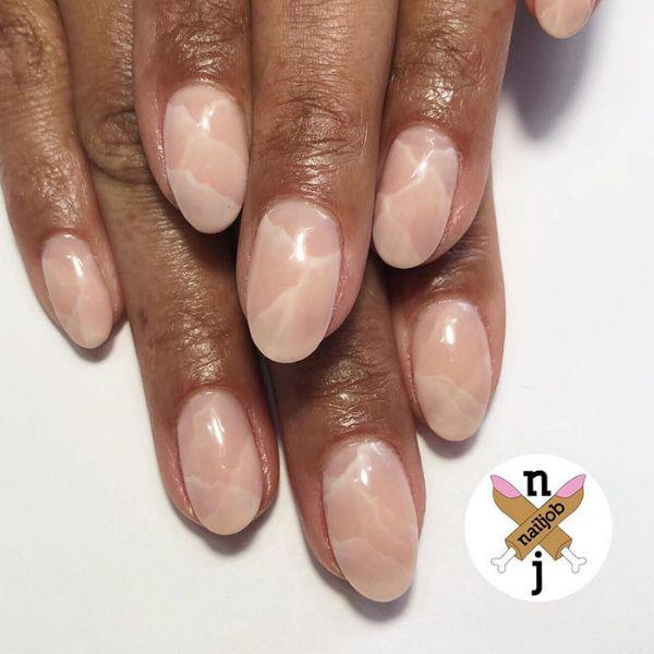 Marble Manicure wedding manicure for medium nails. Wedding Manicure Ideas For Short & Long Nails