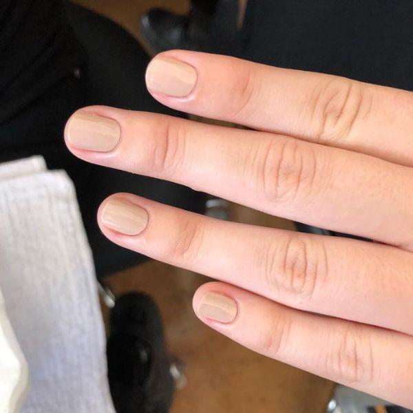 Beige wedding manicure for short nails Wedding Manicure Ideas For Short & Long Nails