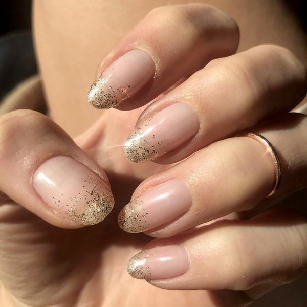 Sparkle glitter wedding manicure for long nails Wedding Manicure Ideas For Short & Long Nails