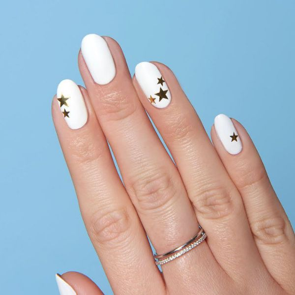 Bright White Color wedding manicure for short nails Wedding Manicure Ideas For Short & Long Nails