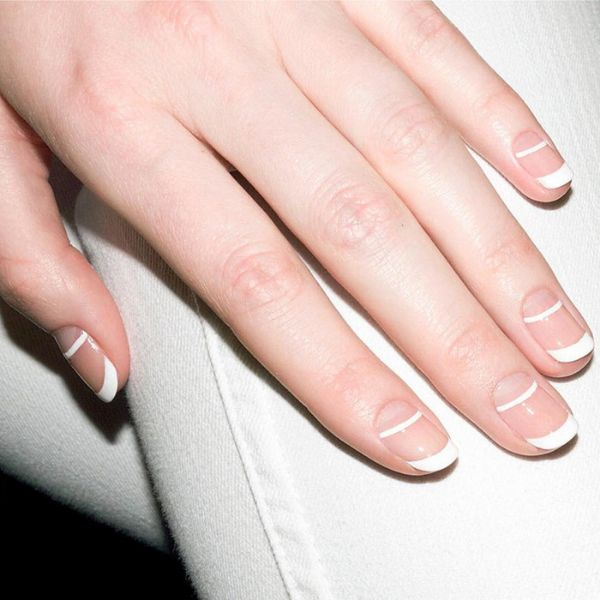 French 2.0 wedding manicure for short nails Wedding Manicure Ideas For Short & Long Nails
