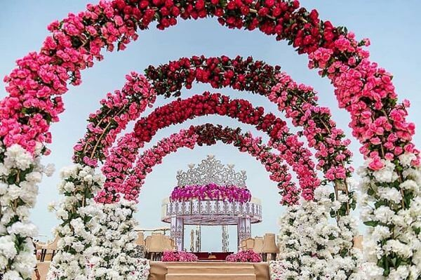 Floral Arch that Leads Your Marriage